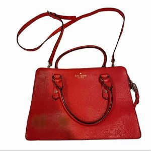 Kate Spade Red Apple Mulberry Street Lise Purse